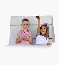 The two little princesses Greeting Card