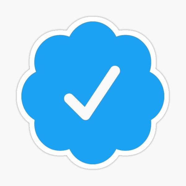 símbolo de verificación de twitter Pegatina