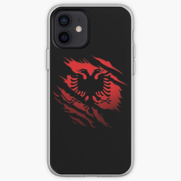 Ripped Albanian flag iPhone Soft Case