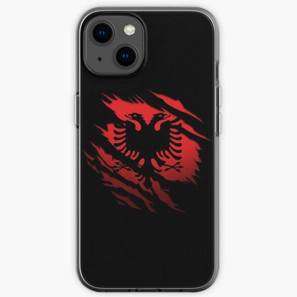 Albanische Flagge zerrissen iPhone Flexible Hülle