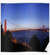 Golden Gate Bridge From Battery Wagner Poster