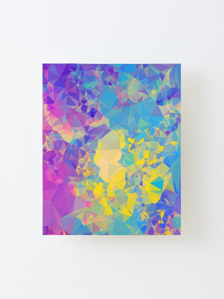 Alternate view of Polystone - Digital Abstract Mounted Print