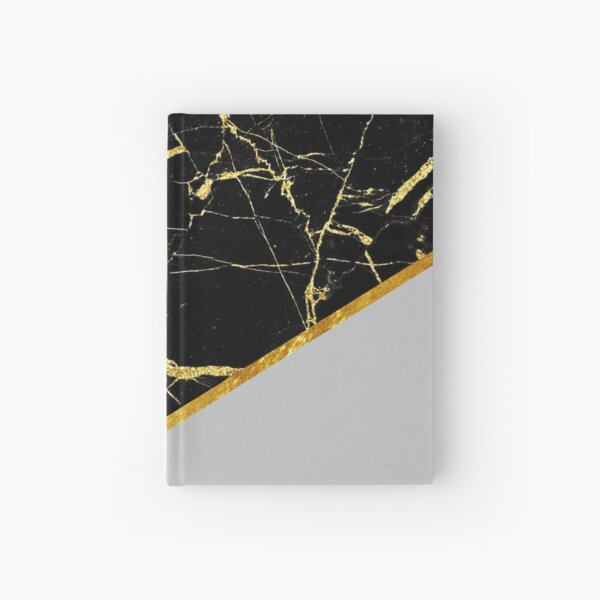 gold and black marble Hardcover Journal