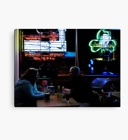 People at the Pub Canvas Print