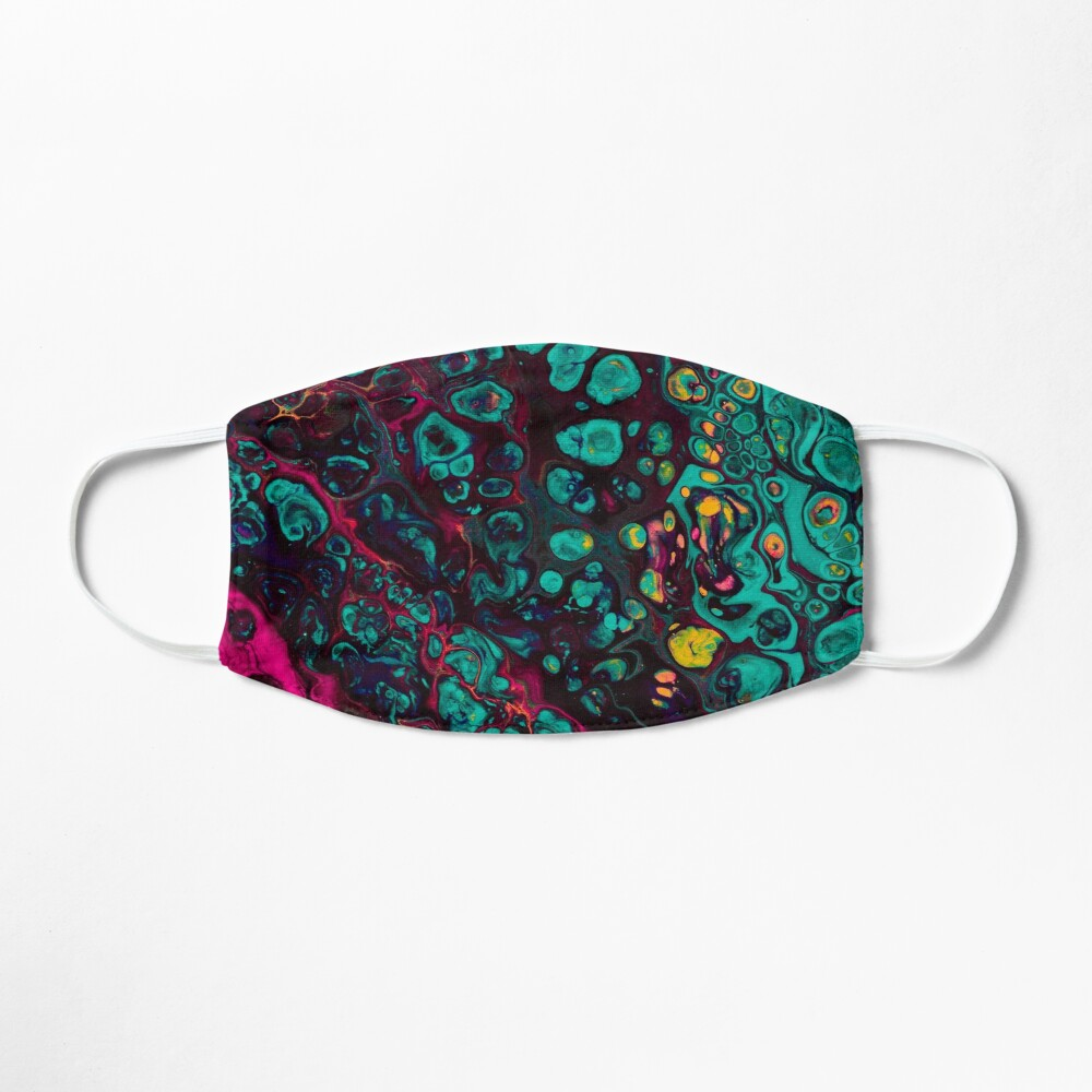 Crunchberries - Teal & Pink Abstract Mask