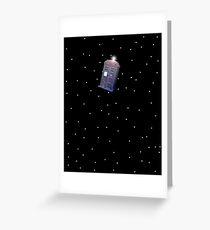Police Box in Outerspace. Greeting Card