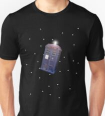 Police Box in Outerspace. Unisex T-Shirt