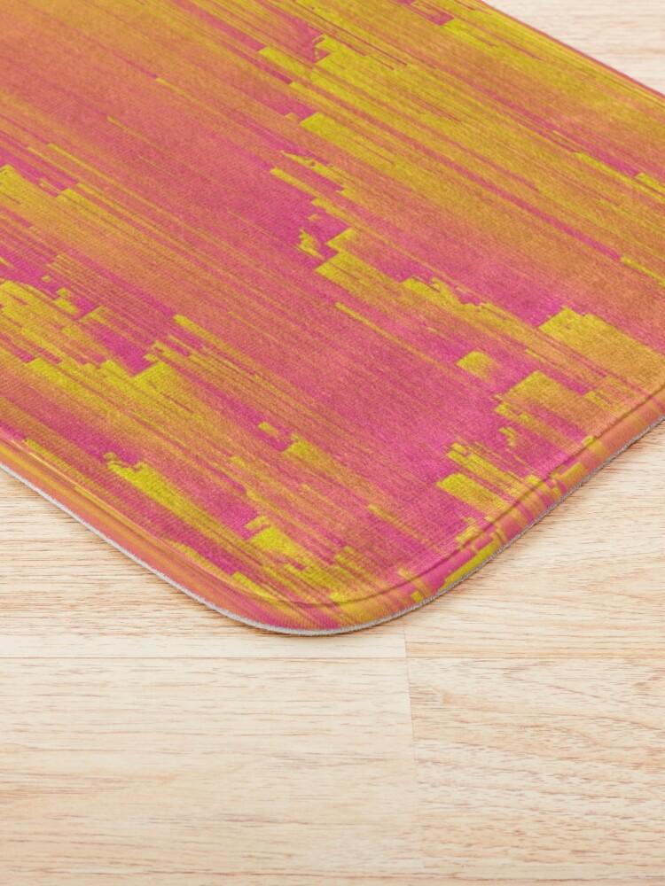 Alternate view of Miami Speed - Abstract Pixel Art Bath Mat