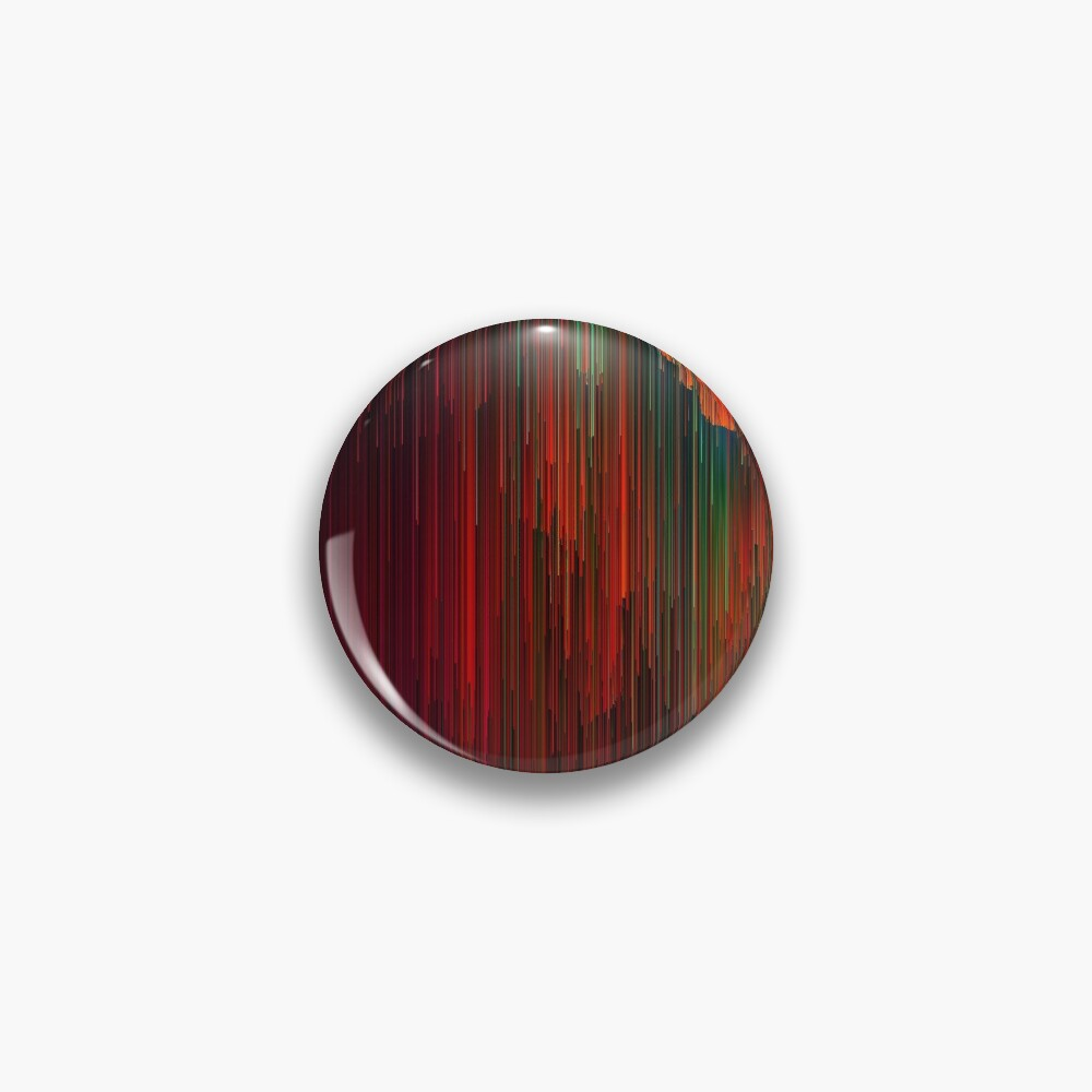Volcanic Glitches - Abstract Pixel Art Pin