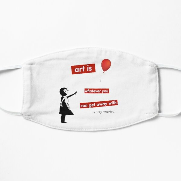 Girl with a red balloon - urban art pop culture - life quote Mask
