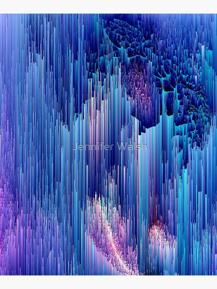 Beglitched Waterfall - Abstract Pixel Art by InsertTitleHere