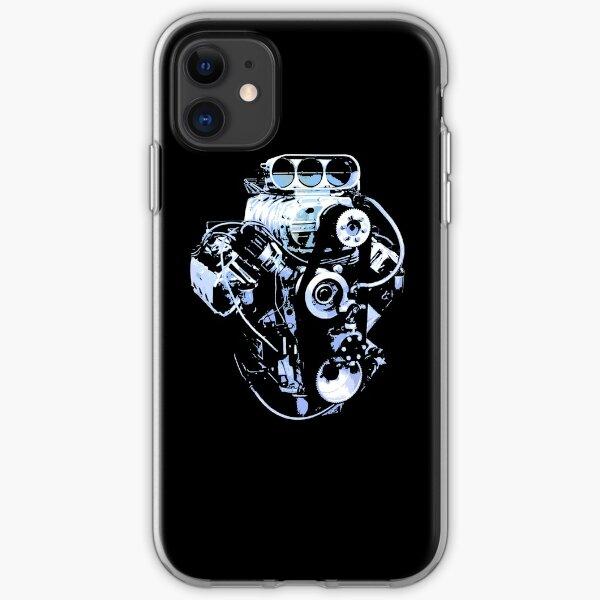 Blue Big Block iPhone Soft Case