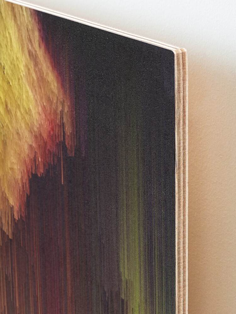 Alternate view of Depth of the Mountain - Glitchy Abstract Pixel Art Mounted Print