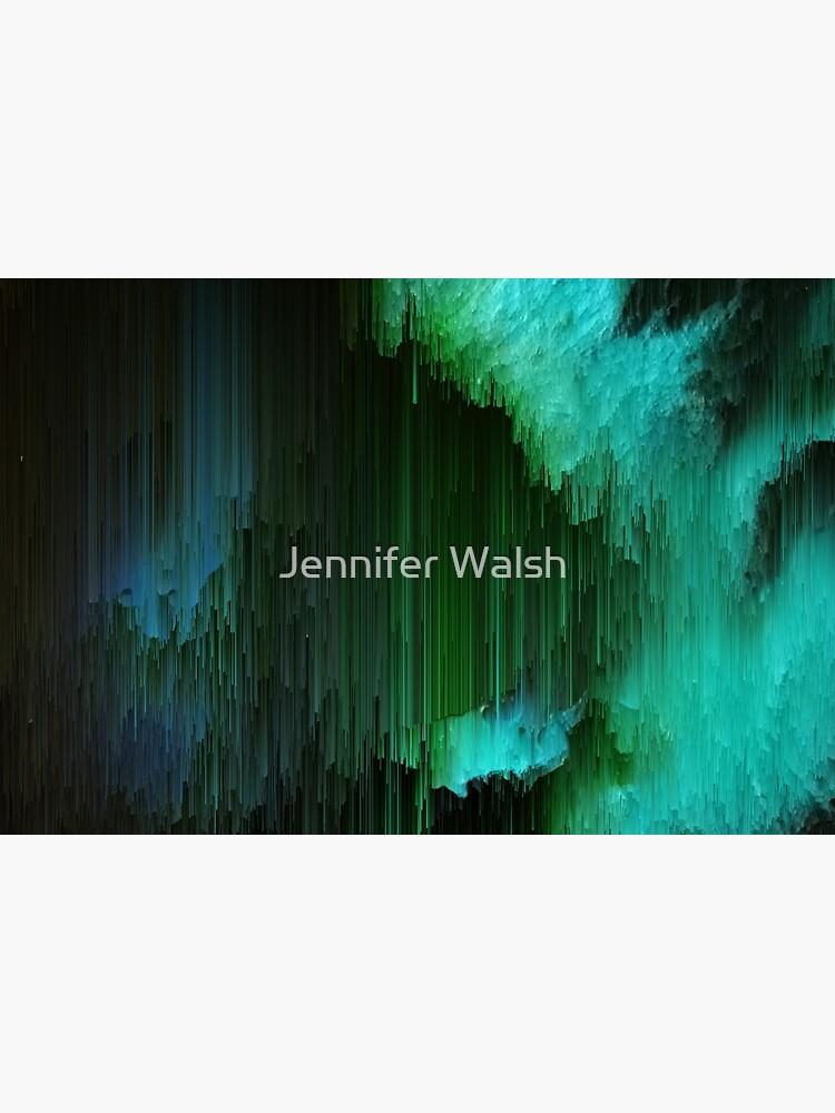 Aurora Borealis - Abstract Glitchy Pixel Art by InsertTitleHere