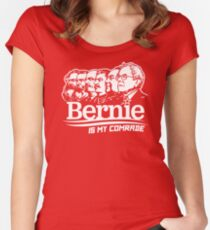 Bernie Sanders Is My Comrade Women's Fitted Scoop T-Shirt