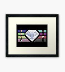 Pixel White Diamond | Community Framed Print