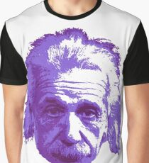 Albert Einstein - Theoretical Physicist - Purple Graphic T-Shirt