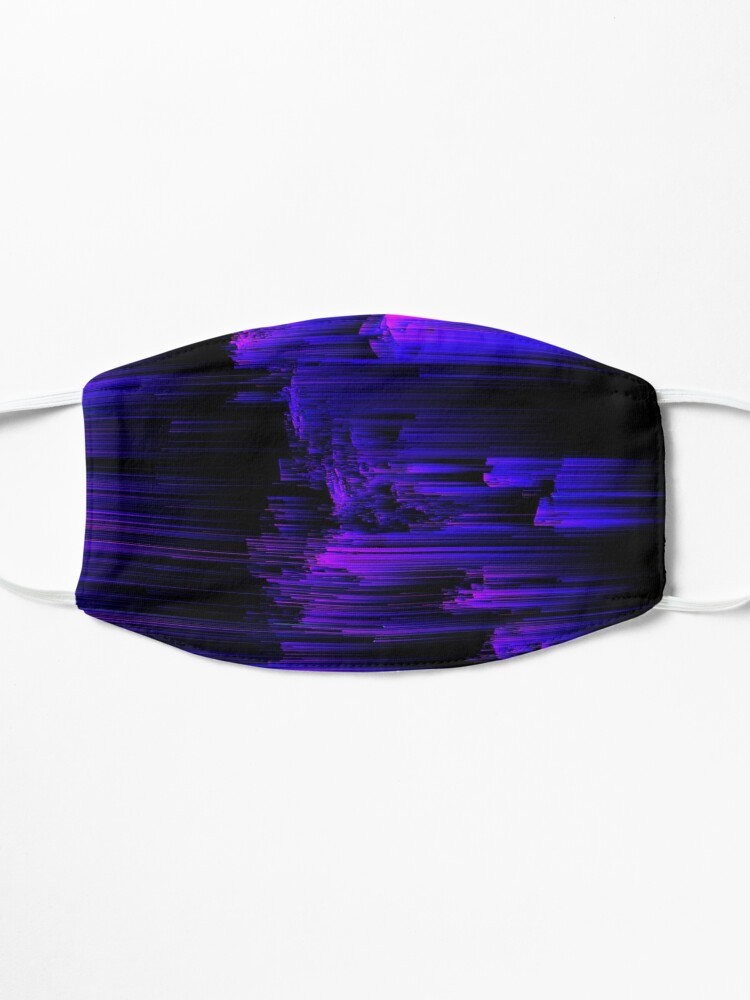Alternate view of Ultraviolet Light Speed - Abstract Glitch Pixel Art Mask