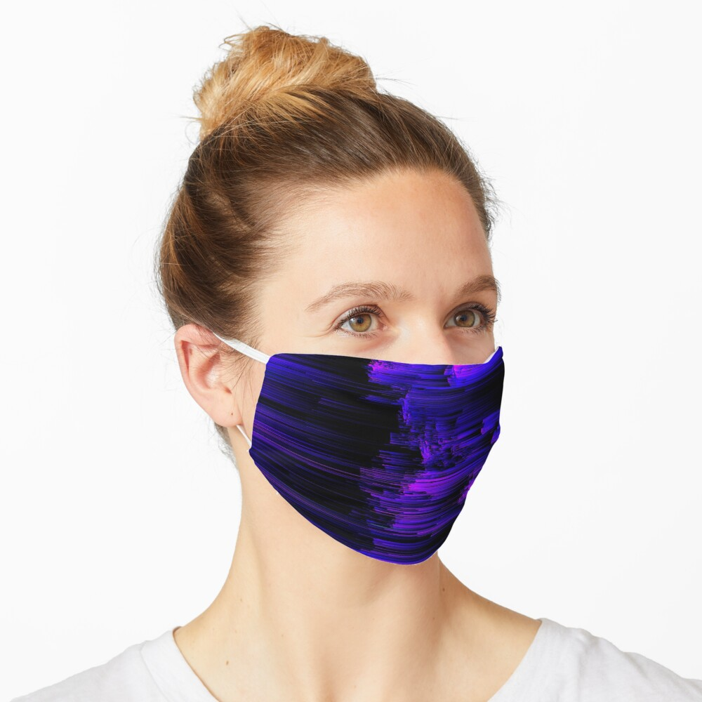 Ultraviolet Light Speed - Abstract Glitch Pixel Art Mask