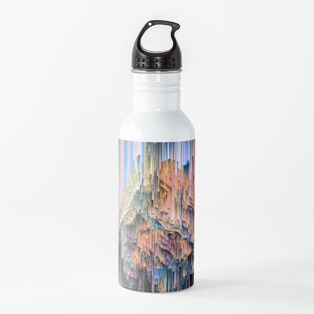 Weird Glitches - Abstract Pixel Art Water Bottle