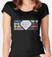 Pixel White Diamond | Community Women's Fitted Scoop T-Shirt