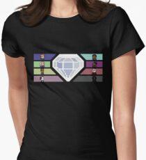 Pixel White Diamond | Community Womens Fitted T-Shirt