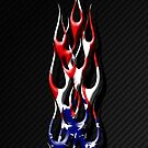 Flames with Stars & Stripes by Mikeb10462