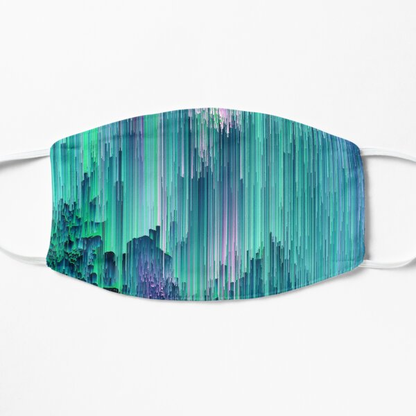 Emerald City - Glitch Abstract Pixel Art Mask