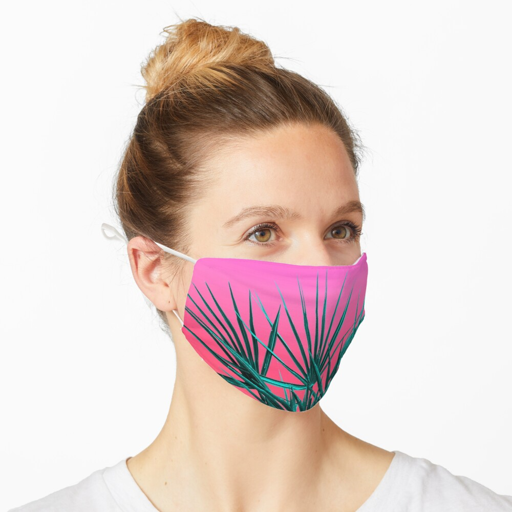 Pink Palm Life - Miami Vaporwave Mask