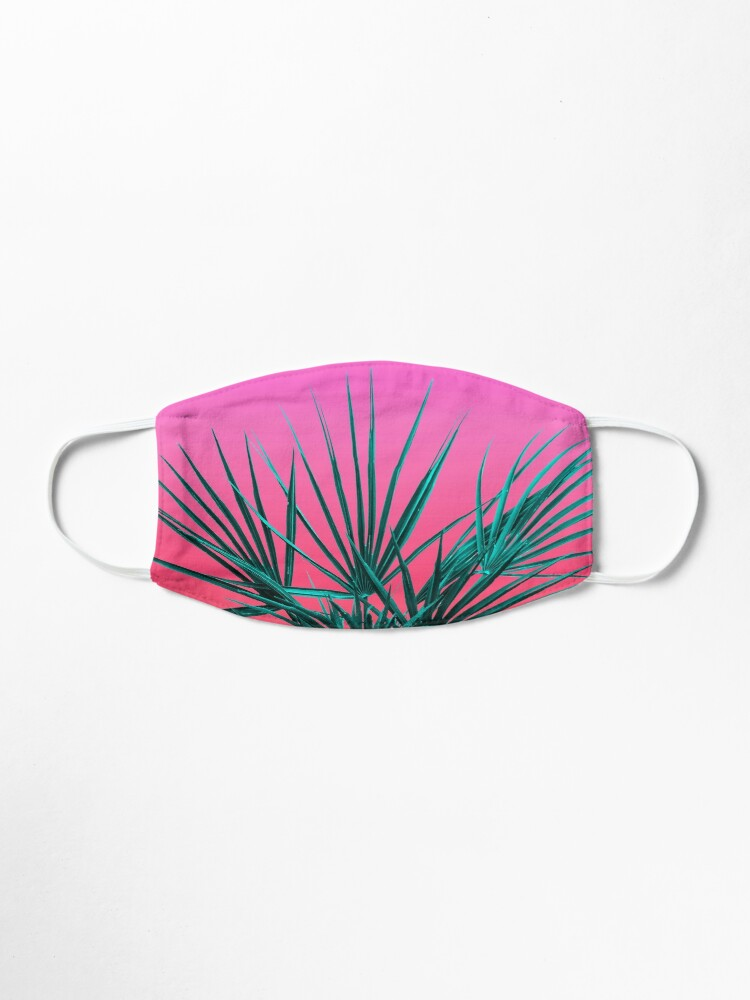 Alternate view of Pink Palm Life - Miami Vaporwave Mask