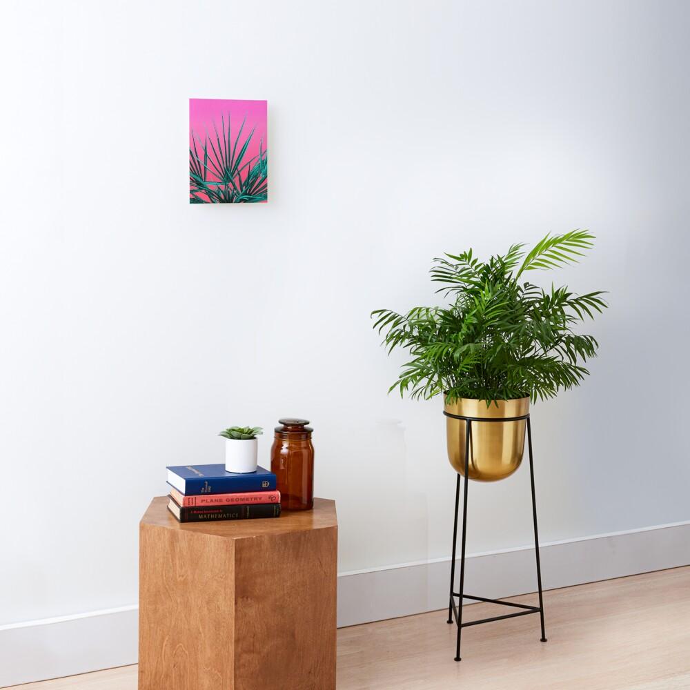 Pink Palm Life - Miami Vaporwave Mounted Print