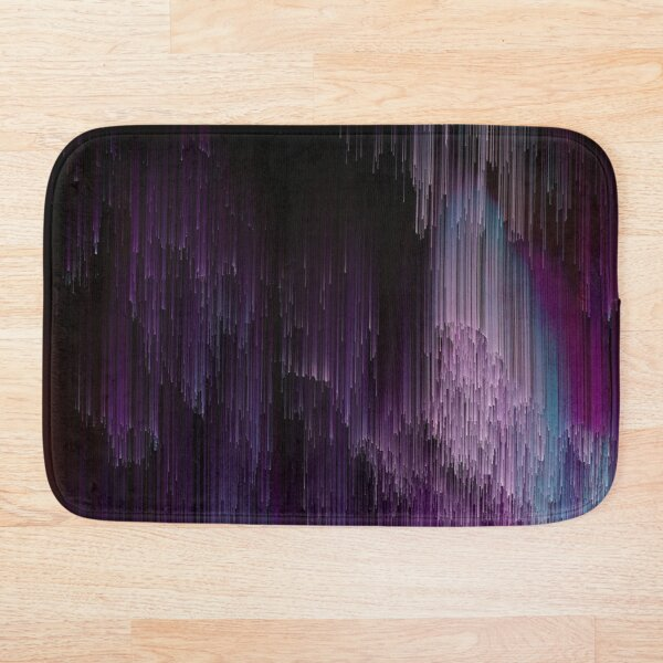 Darkness Glitches Out Bath Mat