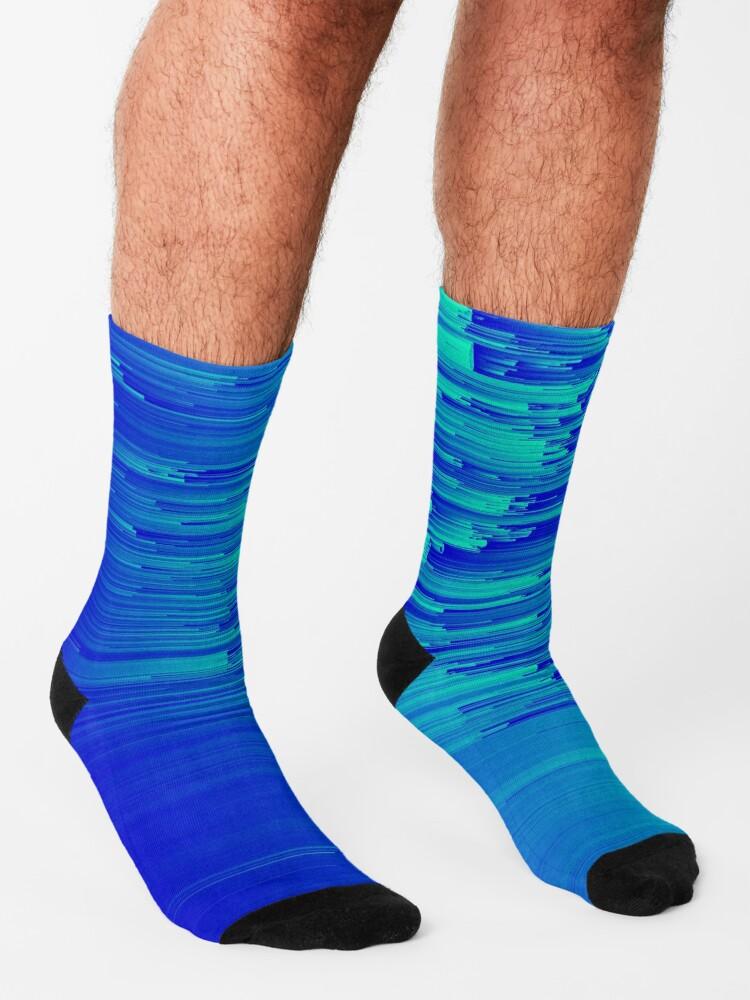 Alternate view of Speed Trap - Pixel Art Socks