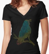 The Iridescent Raven Women's Fitted V-Neck T-Shirt