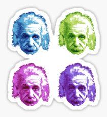 Albert Einstein - Theoretical Physicist - Rainbow Sticker
