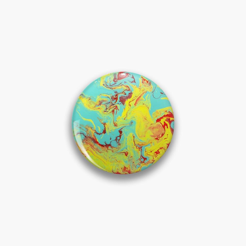 Splashing Down - An Abstract Piece Pin