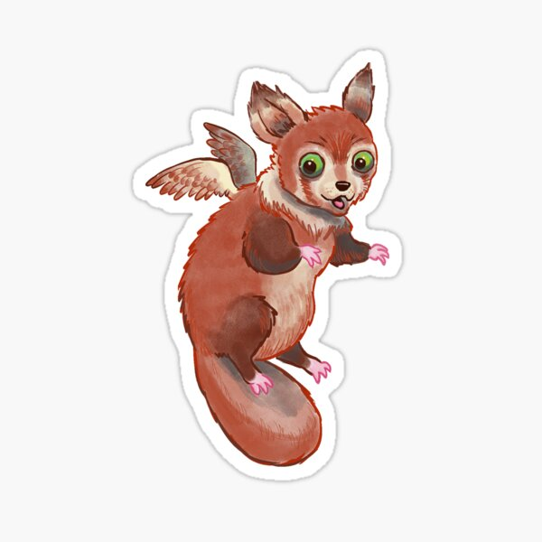 Pandapus, witch's familiar  Sticker