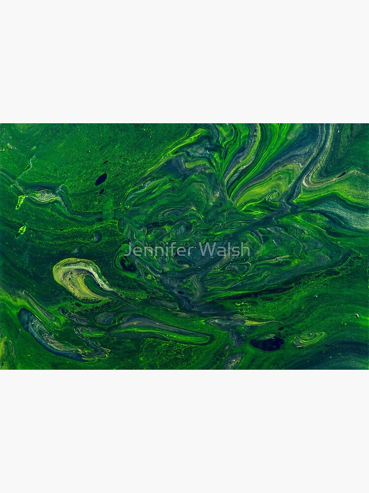 Swirling Jade - An Abstract Piece by InsertTitleHere