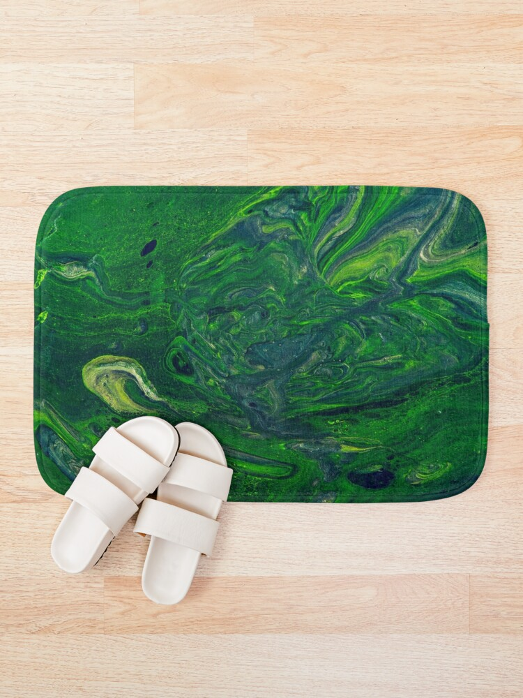 Alternate view of Swirling Jade - An Abstract Piece Bath Mat
