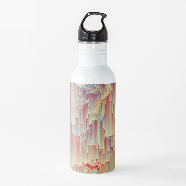 Happy Rain - Glitchy Abstract Water Bottle