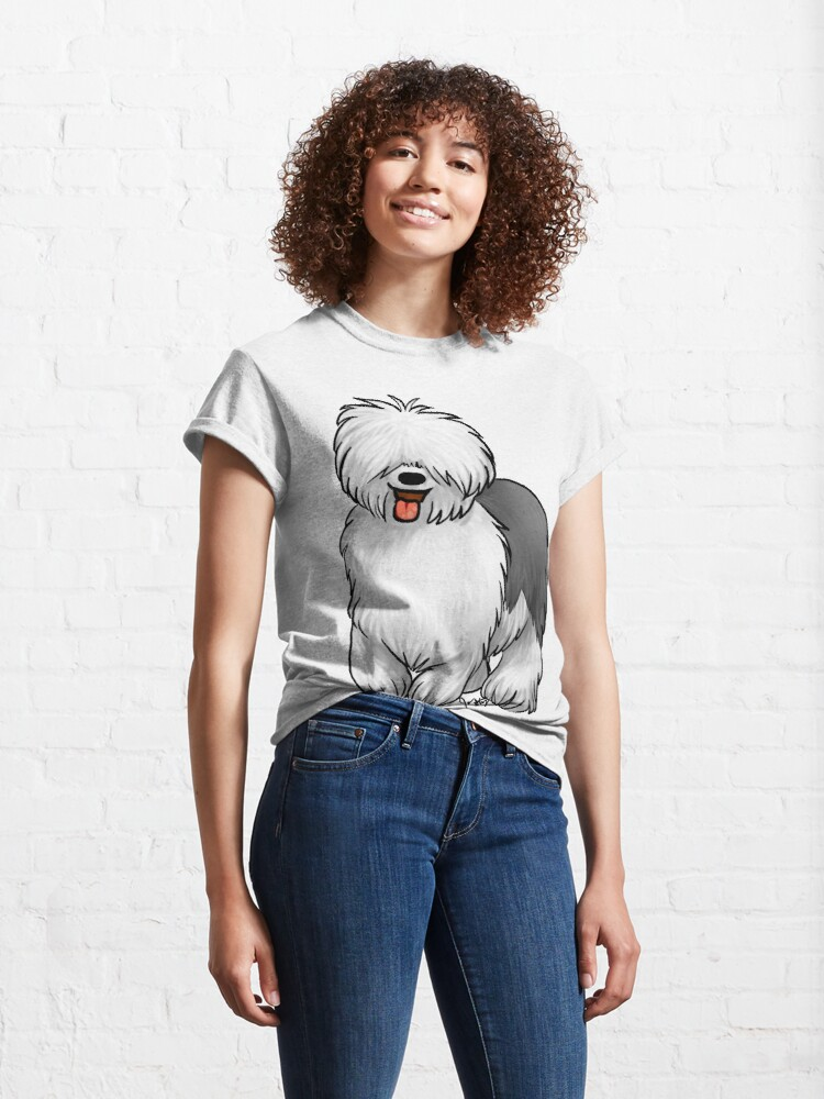 Alternate view of Old English Sheepdog Classic T-Shirt