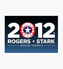 Rogers & Stark 2012 Presidential Campaign Poster Photographic Print