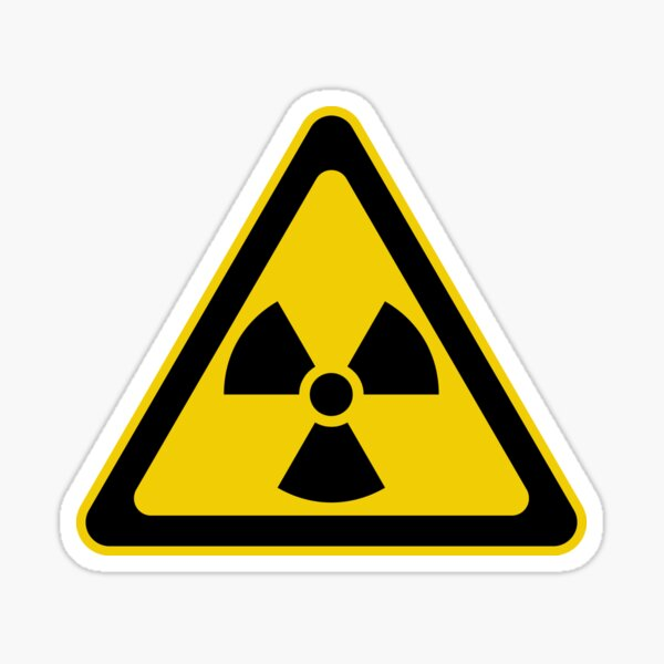 Fallout Shelter Warning Sign Atomic Nuke Nuclear Bomb Aged Vinyl Die Cut Decal