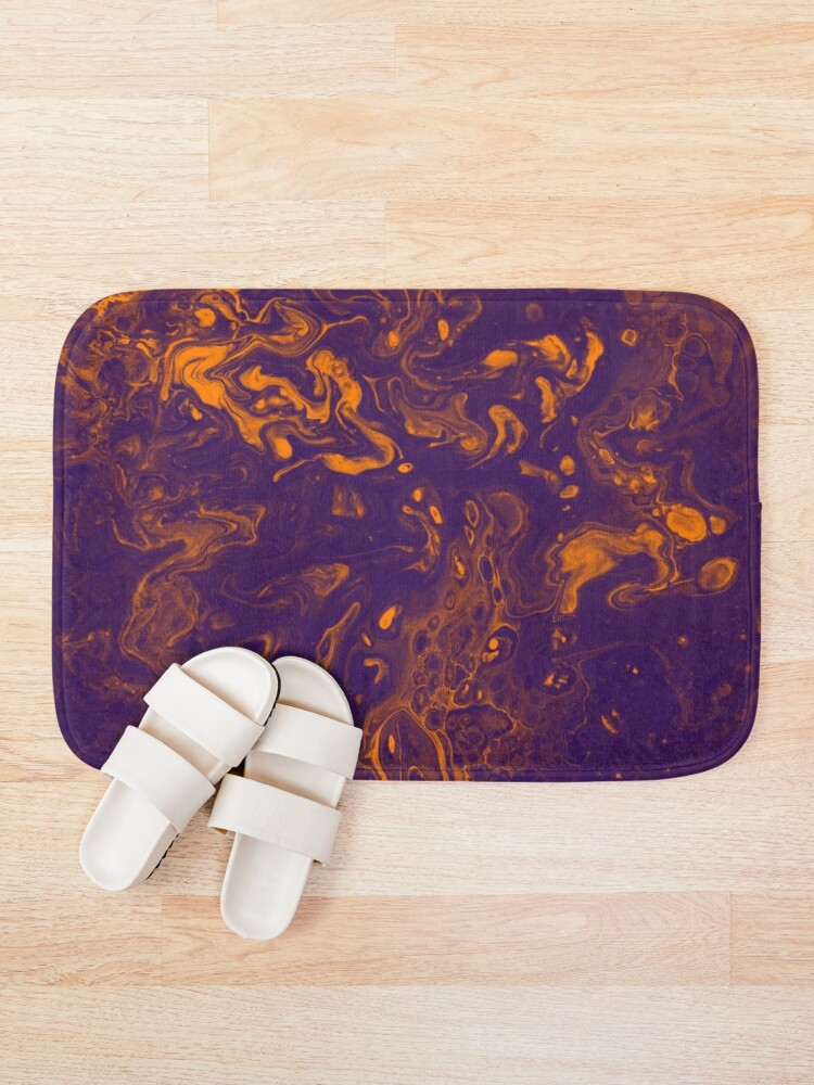 Alternate view of Golden Smoke - An Abstract Piece Bath Mat