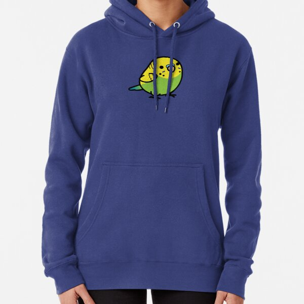 Chubby Green Budgie Male Pullover Hoodie