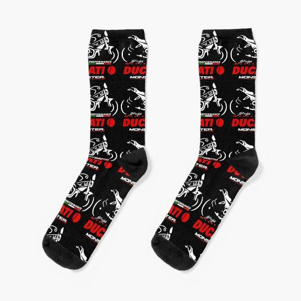 DUCATI Monster Motorcycle T-Shirt Biker - The Legend from Italy Socks