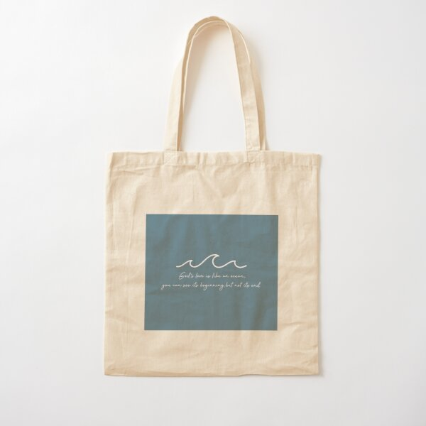 God's Love Is Like An Ocean Cotton Tote Bag