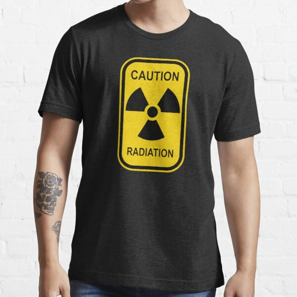 Radioactive Symbol Warning Sign - Radioactivity - Radiation - Yellow & Black - Rectangular Essential T-Shirt