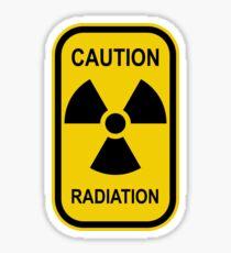 Radioactive Symbol Warning Sign - Radioactivity - Radiation - Yellow & Black - Rectangular Sticker