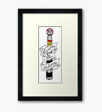 """Reverse The Polarity"" Framed Print"